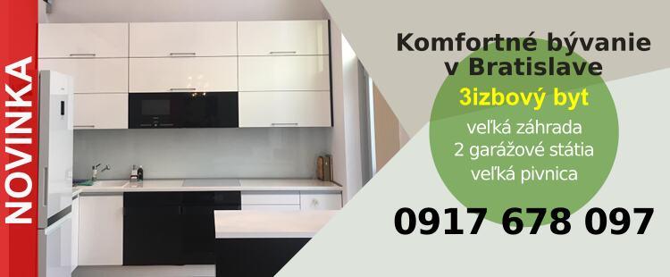 3 izbový byt, BA III, Nové Mesto, Frankovská